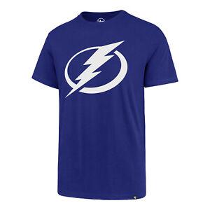 NHL T-Shirt Tampa Bay Lightning Splitter blau 47 Brand Eishockey Logo
