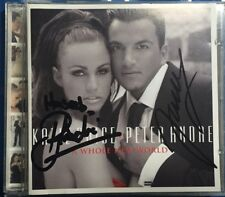 KATIE PRICE & PETER ANDRE SIGNED A WHOLE NEW WORLD CD ALBUM MUSIC POP TO HASEEB