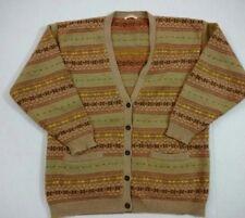 Vintage BROOKS BROTHERS Mens Made USA 5 Button Cardigan Tan Wool Sweater Medium
