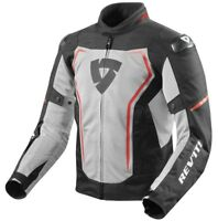 GIACCA JACKET TRAFORATA ESTIVA MOTO REVIT REV'IT VERTEX AIR NERO ROSSO RED TG L