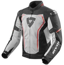 GIACCA JACKET TRAFORATA ESTIVA MOTO REVIT REV'IT VERTEX AIR NERO ROSSO RED TG M