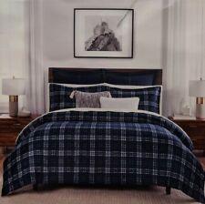 New Tommy Hilfiger 3 Piece Comforter Set Edward Plaid Navy, Green Full/ Queen