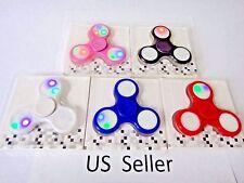 5 Pcs Pack LED Light Hand Spinner Fidget EDC Toys ON/OFF + 3 MODE New Version