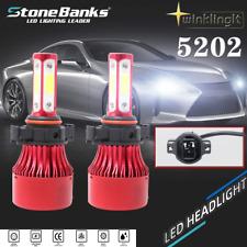 4-Side 5202 H16 9009 COB LED Headlight Bulb Fog Light 120W 6000K White Lamp Kit
