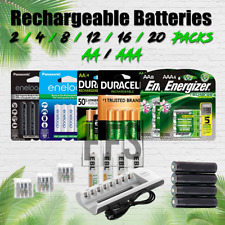 Rechargeable Batteries AA / AAA Ni-MH Energizer Duracell Battery Charger lot mAh