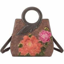 New Women Genuine Cow Leather Messenger Shoulder Bag Embossed Handbag Strap