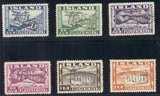ICELAND #C15-20 1934 Airmail set complete with TOLLUR revenue cancels Facit $185