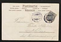 Gruß AK Dt. Reich mit Mi Nr. 53  gelaufen Fulda 7.9.1902