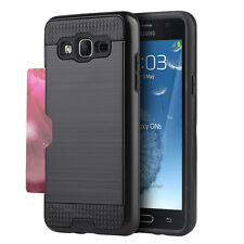 For Samsung Galaxy On5 G550 - HARD & SOFT HYBRID COVER SKIN CASE BLACK