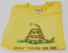 Don't Tread on Me Gadsden American Rev. Flag T-Shirt  Yellow 2X Large Pre-Owned