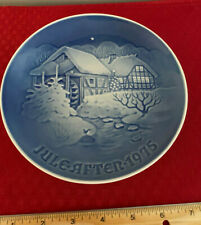 "1975 Copenhagen 7 1/2"" Porcelain Plate B&G ""Christmas at the old Water-mill"""