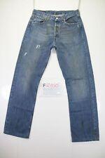 Levi's 501 Destroy Patch Code F2100Tg46 W32 L36 jeans d'occassion RACCOURCI