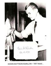 Edwin McMillan Autograph Nobel Prize Chemistry Transuranium Element Neptunium #1