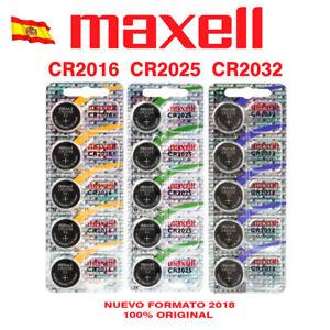 PILAS MAXELL LITIO CR1216 CR1220 CR1616 CR1620 CR1632 CR2016 CR2025 CR2032 3V