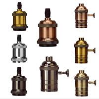 E27/E26 Edison Vintage Lampensockel Lampenfassung Adapter Pendant Halter Kabel