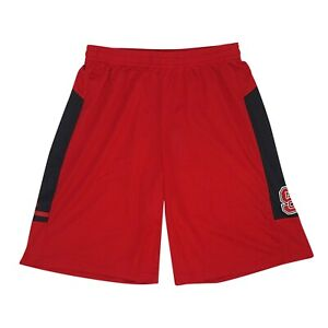 NC State Wolfpack NCAA Adidas Men's Red Climalite Sideline Shorts