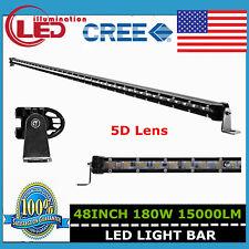 "48""inch 180W Cree LED Super Slim Single Row Light Bar 5D Optical Boat Truck Lamp"