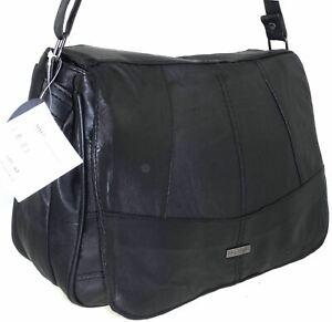 Lorenz Real Leather Multi Pocket Organizer Shoulder Bag Across Body Bag Handbag