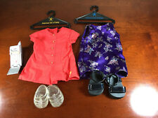 """American Girl of Today """"Karaoke Outfit"""" Satin Dress & Platform Sandals Only 1999"""