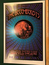 The Decemberists 2008 San Fransisco Gig Concert Poster by Dave Hunter Signed WOW