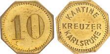 10 Pfennig 1927-1940 Deutschland / Kreuzer Karlsruhe  10 Pfennig für die Kantine