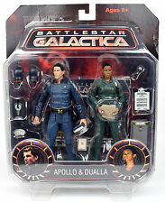 "Battlestar Galactica APOLLO & DUALLA 2-Pack 7"" Action Figure Diamond Select"