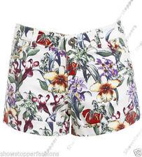 Denim Machine Washable Floral Regular Size Shorts for Women