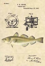 Official Cod Fishing US Patent Art Print- Antique Vintage Saltwater Fish 41