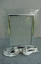 OLD SILVER FRAME AND SILVER HOLDER