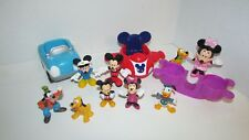 Disney Mickey Mouse clubhouse blue car plane spaceship seesaw figures lot minnie