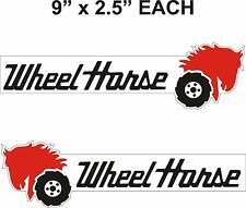 "pair WHEEL HORSE Tractor vinyl decals 9"" x 2.5"" each"