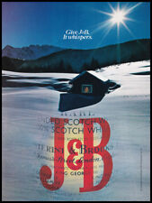 J&B Scotch whiskey print ad 1981 Christmas scene