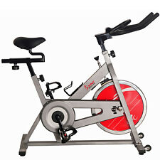 Sunny Health and Fitness Chain Drive Indoor Cycling Bike - Silver- (SF-B1001S)