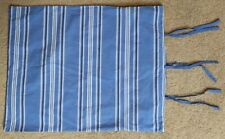 Cotton Pillow Sham Blue and white stripes with ties Standard Size