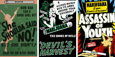 Vintage Anti-Marijuana Reefer Lot (3) 11 x 17 Reproduction Posters