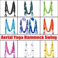 Yoga Hammock Swing Sling Trapeze Anti Gravity Inversion Swing/Daisy Chains/Hooks