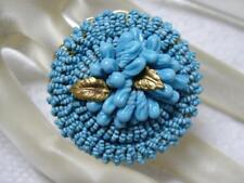 1940's Haskell turquoise MICRO Seed Glass Bead Brooch~Frank HessHagler Influence