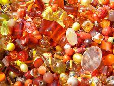 NEW Orange's  6mm-15mm 4/oz Random MIX LOOSE Beads Lot Pearls, Firepolish, Glass