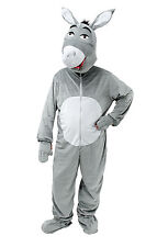 Deluxe Adulte Grand Tête Âne Costume Shrek Animal Farm Mascot Costume Fancy Dress