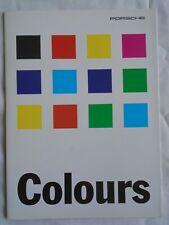 FOLLETO de colores de Porsche 1995 de agosto