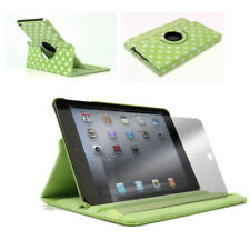 CASE COVER+SCREEN PROTECTOR SWIVEL STAND POUCH PU GREEN DOT IPAD 2ND 3RD 4TH GEN