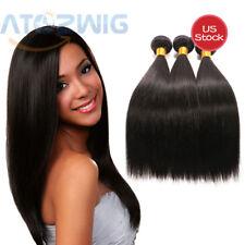 "9A 3 pcs 18"" 50g per Remy Virgin Brazilian Straight Human Hair Weft Extension US"
