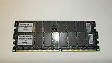 512MB TOTAL Kingston KVR333X64C25/256 (256Mbx2) PC2700 CL2.5 333MHz DDR DIMM