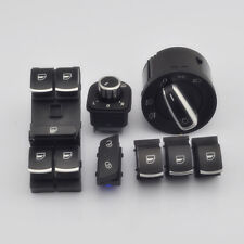 7Pcs Window & Headlight & Mirror & Door Lock Switch For VW Jetta Golf MK5 Rabbit