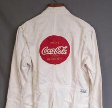 Vintage 1950s Coca Cola White Herringbone Twill Work Coveralls Patch Uniform Lee