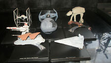 STAR WARS DE AGOSTINI DIECAST SHIPS ON STANDS X8