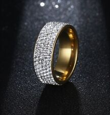 ANELLO ETERNITY-VERETTA DIAMANTI FANCY, ALTO MM.8, LEGA ORO GIALLO-PLATINO:BELLO