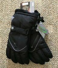 Mens Rossignol Ski Gloves Black Size Large Warm Soft Water Resistant