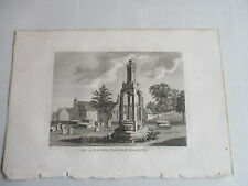 1787 CROSS IRON ACTON CHURCH YARD GLOUCESTERSHIRE ENGRAVING FRANCIS GROSE