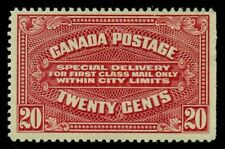 Canada #E2 Special Delivery Stamp, Mint, Nh, Strong Color, Vf, Scott $220.00